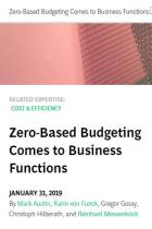 Zero-Based Budgeting Comes to Business Functions