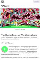 The Sharing Economy Was Always a Scam