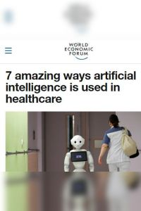 7 Amazing Ways Artificial Intelligence Is Used in Healthcare summary