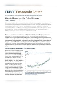 Climate Change and the Federal Reserve summary