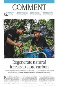 Regenerate Natural Forests to Store Carbon summary