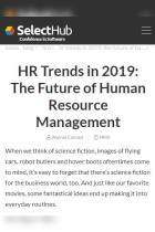 HR Trends in 2019