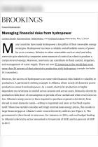 Managing Financial Risks from Hydropower