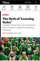 "The Myth of ""Learning Styles"""