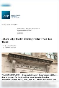 Libor: Why 2022 is Coming Faster Than You Think summary