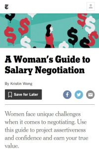 A Woman's Guide to Salary Negotiation summary