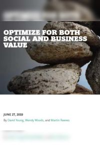 Optimize For Both Social and Business Value summary
