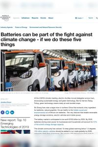 Batteries Can Be Part of the Fight Against Climate Change – If We Do These Five Things summary