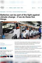 Batteries Can Be Part of the Fight Against Climate Change – If We Do These Five Things