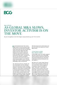 As Global M&A Slows, Investor Activism Is on the Move summary