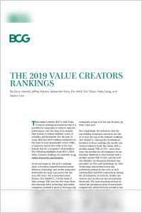 The 2019 Value Creators Rankings summary