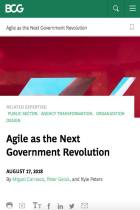 Agile as the Next Government Revolution