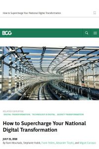 How to Supercharge Your National Digital Transformation summary