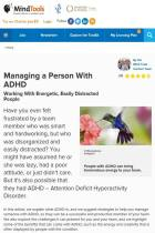 Managing a Person with ADHD