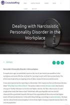 Dealing with Narcissistic Personality Disorder in the Workplace