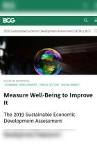 Measure Well-Being to Improve It