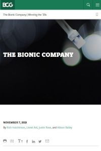 The Bionic Company summary