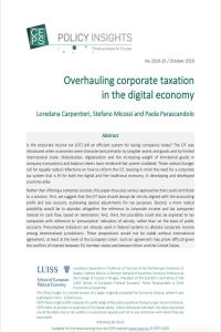 Overhauling Corporate Taxation in the Digital Economy summary
