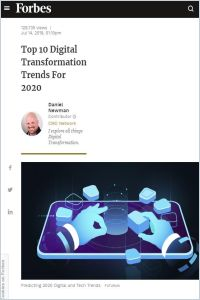 Top 10 Digital Transformation Trends for 2020 summary