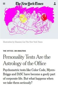 Personality Tests Are the Astrology of the Office summary