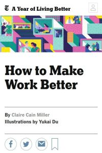 How to Make Work Better summary