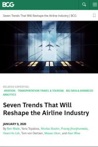 Seven Trends That Will Reshape the Airline Industry summary