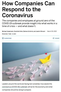 How Companies Can Respond to the Coronavirus summary