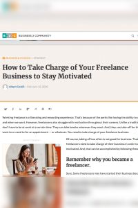 How to Take Charge of Your Freelance Business to Stay Motivated summary