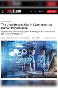 The Unaddressed Gap in Cybersecurity: Human Performance summary