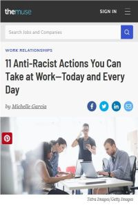 11 Anti-Racist Actions You Can Take at Work – Today and Every Day summary