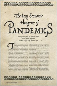 The Long Economic Hangover of Pandemics summary