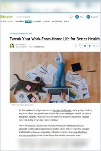 Tweak Your Work-from-Home Life for Better Health summary