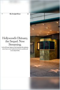 Hollywood's Obituary, the Sequel. Now Streaming summary