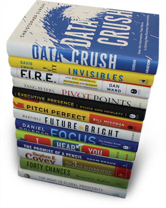 Pile of business books